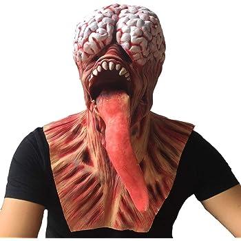 XL Adult Demon Ghost Scream Fancy Dress Halloween Mens Costume