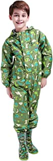 Kids Raincoat Ponchos Overall Rainsuit Boys and Girls Rain Gear,2 14