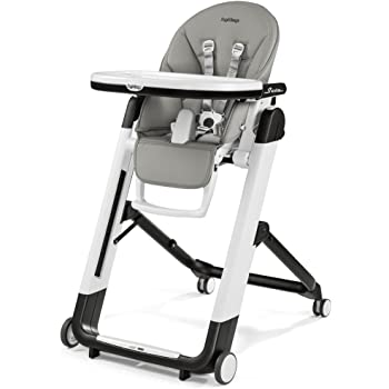 Peg Perego Reclining HSIXX2ICEX Designer High Chair with Baby Siesta Ice