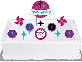 Gymnast Cake Topper Birthday Party Cake Decoration Female Gymnastist Dance Cheer LT1190 Cake Topper Tumbling Gymnastics Decor