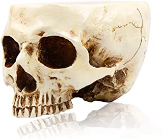 RMM Retro Human Skull Head Flower Pot Planter Bed Box Container Replica Home Bar Decor