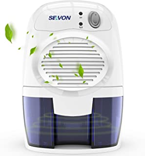 SEAVON New Electric 2020 Mini Dehumidifier, 1500 Cubic Feet (170 sq ft) Portable and..