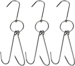 Pack of 6 YGbridge Meat Hooks S-Hooks Stainless Steel Poultry Hook Bacon Hams Meat Hanging Tools Butcher Hook Hanging Drying BBQ Grill Cooking Smoker Hook Tool