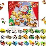 Calendario de Adviento para Niños, Coches de Juguetes, Juguetes Niños 2 3 4 5 6 7 8 9 10 Años, Juguetes Navideños para Niños, Regalos de Cumpleaños para Niños / Regalos de Navidad