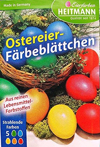 TK Gruppe Timo Klingler 5X Ostereier Färbeplättchen Farben für Ostern Eier Ostereier Ostereierfarben Eierfarben Färbeplättchen mit strahlenden Farben zum bemalen/färben