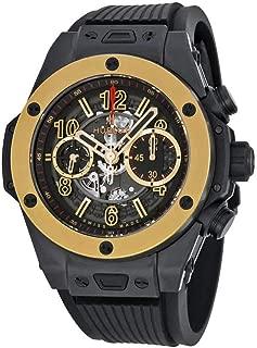 Hublot Big Bang Unico Magic Automatic Gold Skeleton Dial Black Rubber Mens Watch 411CM1138RX