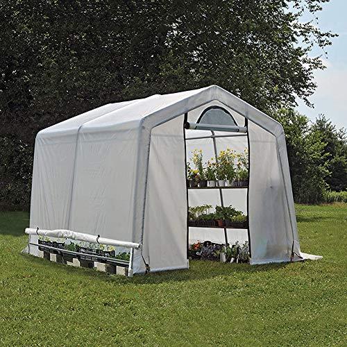 DNNAL Gewächshaus, Pflanze Gärtner Gewächshäuser Walk-In-Art Hinterhof wächst Haus mit integriertem Regal (6' X 8' X 6')