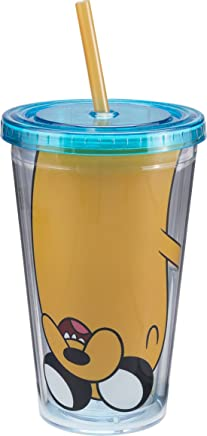 Vandor 13014 Adventure Time Acrylic Travel Cup with Lid and Straw,  18-Ounce,  Multicolored