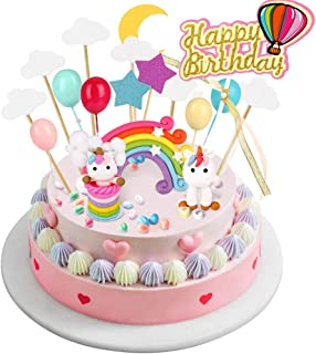BBLIKE Decoracion Unicornio Cake con Cloud Rainbow + Star