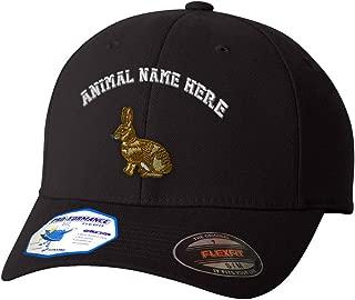 Custom Flexfit Baseball Cap European Rabbit Embroidery Animal Name Polyester Hat