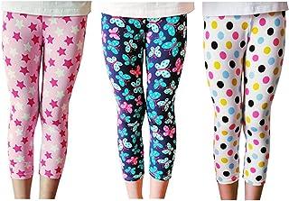 Niñas Pantalones Leggings Cortos 3/4 Largos Deportiva Mallas para Chicas 2-13 Años