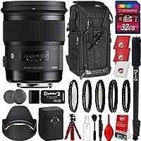 Sigma 50mm f/1.4 Art DG HSMレンズ Nikon DSLRカメラ用 32GB Pro写真とトラベルバンドル