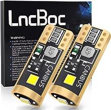 LncBoc Bombillas T10 W5W CANBUS Coche LED 194 168 2825 Bombillas 12V 3SMD-3030 6000K Para Coches Luces De La Matrícula Posición Laterales Iluminación Interior Luces Laterales 2 Paquetes