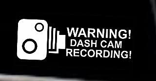 INDIGOS UG Sticker/Bumper - WARNING DASH CAM - Safety Window Sticker transparent inside - 92x44 mm - 2 pieces - JDM/Die cut - Security Signs - CCTV, Car, Van, Truck, Taxi,Mini Cab, Bus, Coach