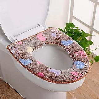 Elevin(TM) ???? Bathroom Warmer Toilet Seat Cloth Soft Closestool Washable Lid Top Cover Pad