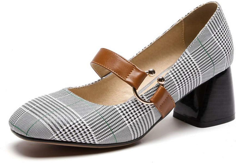 AdeeSu Womens Checkered Casual Travel Urethane Pumps shoes SDC05929
