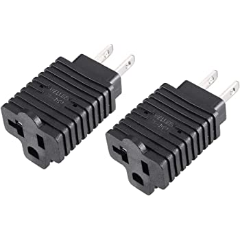 uxcell US NEMA 5-15P Plug to C13 Socket AC Power Adapter Converter Black