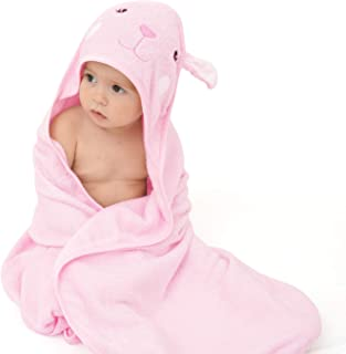 Touchat Bamboo Hooded Baby Towels, Ultra Soft and Hypoallergenic Baby Bath Towels with Hood for Toddler Infant Newborn, La...