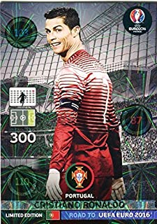 2016 Panini Adrenalyn Road to UEFA EURO France EXCLUSIVE Cristiano Ronaldo Limited Edition MINT! Rare Card Imported from Europe! Shipped in Ultra Pro Top Loader to Protect it!