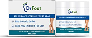Dr Foot Epsom Salt Peppermint Foot Soak (Magnesium Sulphate) For Muscle Aches, Pain Relief, Relaxation, Spa Treatment for ...