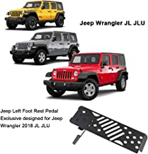 Left Foot Rest Dead Pedal Jeep Foot Rest Pedal for 2018 Jeep Wrangler JL & Unlimited Aluminium Alloy Dead Pedals Foot Pegs Kick Panel