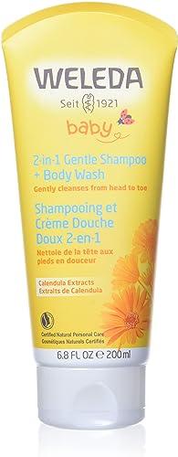 Weleda Baby 2-in-1 Gentle Shampoo and Body Wash, 6.8 Oz
