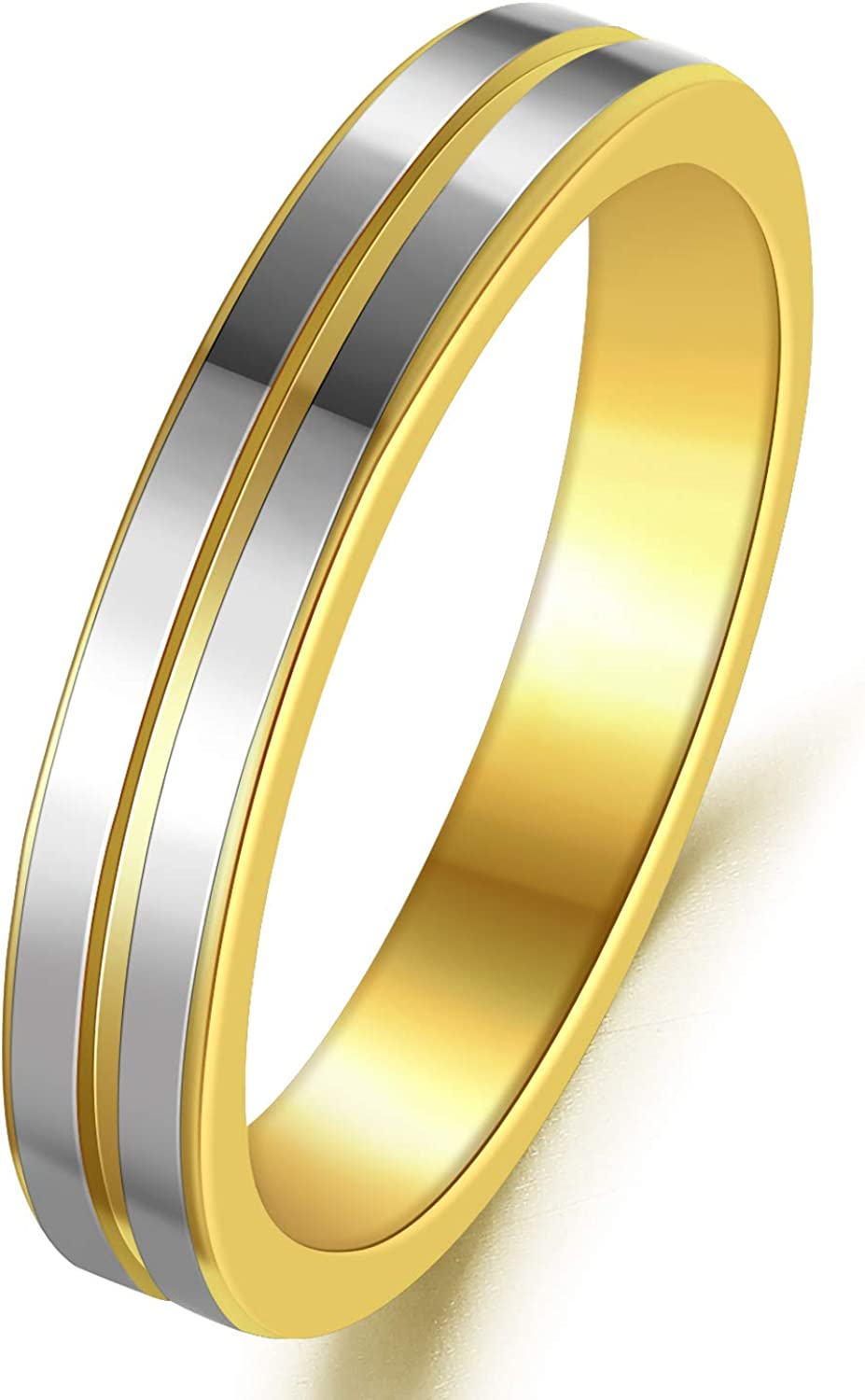 TUNGSTORY 4mm Groove Tungsten Rings for 25% OFF Women Gold Men Washington Mall Tw Silver