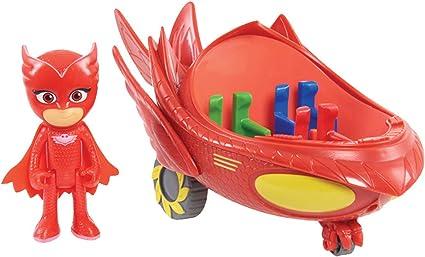 PJ: máscaras para vehículo y figura – Glidero de búho , Modelos/colores Surtidos, 1 Unidad