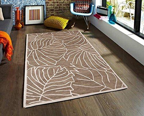 Everyday Home- Tapis européens et américains de Table géométrie Chambre Salon de café à la Main Matelas Pillow personnalisé Tapis Acrylique Beige (Taille : 1200MM×1700MM)