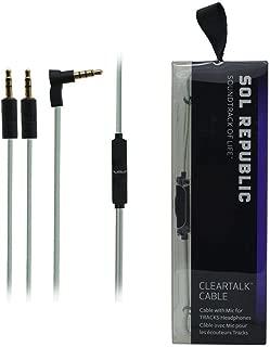 New SOL REPUBLIC Tracks V8 V10 Ultra V12 Clear Talk Cable - New OEM Mint Green