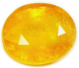 Genuine Natural Yellow Sapphire Loose Gemstone 3 Carat Oval Shape Stone For Jewelry making With Wholesale Price