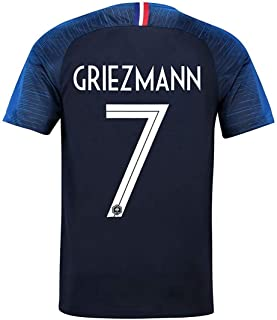 2018 Team World Soccer Cup France Griezmann 7 Home Stadium Mens Jersey