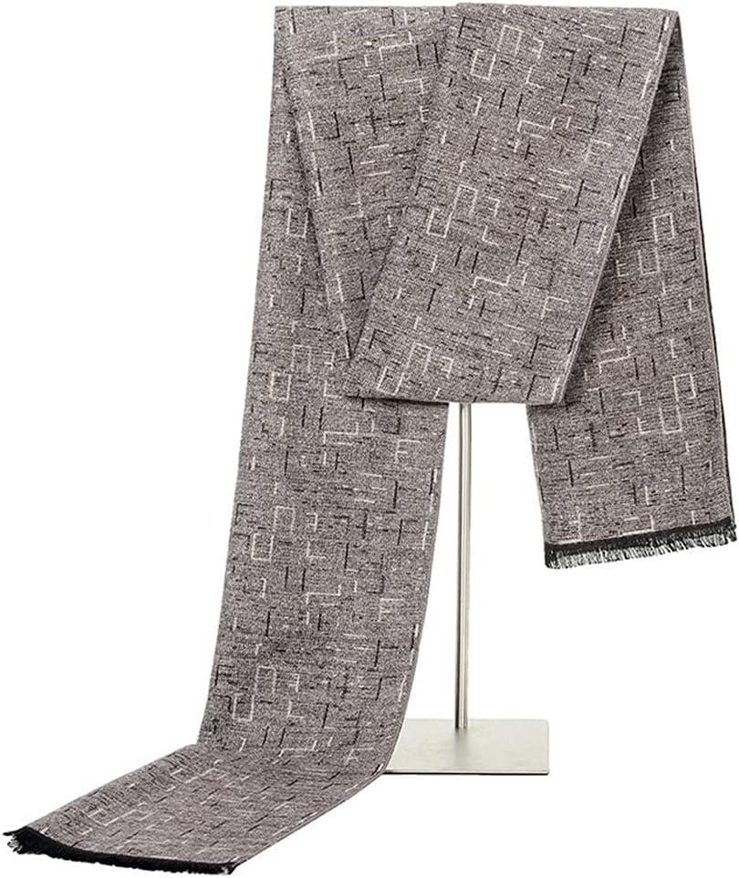 DIAOD Warm Scarf Men's Scarf Fringed Cashmere Winter Men's Square Plaid Scarf (Color : C, Size : 18030cm)