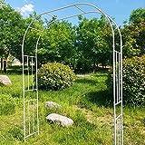 Gartenbögen, schmiedeeiserne Rosenbogenkomponenten, die für langlebige wasserdichte Gartenrasen aus Metall im Freien verwendet werden und als Kletterpflanzen als Geschenk für die Braut dienen