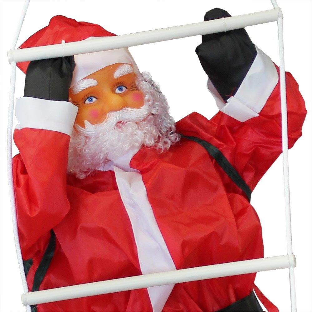 en.casa] Papá Noel en la Escalera de 150cm a 90cm decoración Navidad: Amazon.es: Hogar