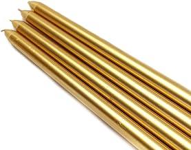شمعة Zest Candle CEZ-085_12 144 قطعة ، 30.48 سم ذهبي معدني