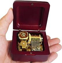 mit Versilberung Bewegung in Lilium Von Elfen Lied Musical Box Rechteck wzmdd Antike gravierte Holz Wind-Up Musical Box