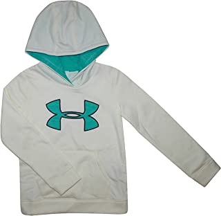 سترة بقلنسوة بشعار Under Armour Youth Big Girls UA Storm Big بقلنسوة رياضية بيضاء