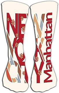 "GHEDPO Women's Men's Cool Colorful Casual Socks Casual Cotton Crew Socks Gift 19.7""(50cm) New York City New York City Typo..."
