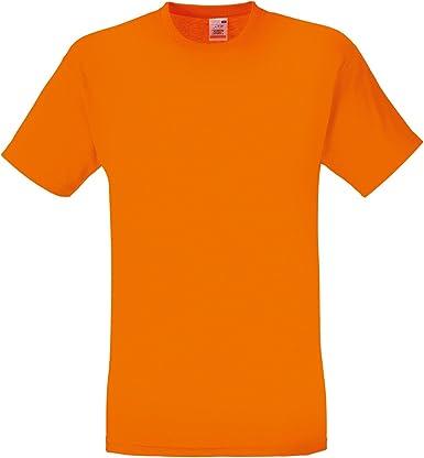 Camiseta de manga corta de Fruit of the Loom para hombre Naranja naranja Medium