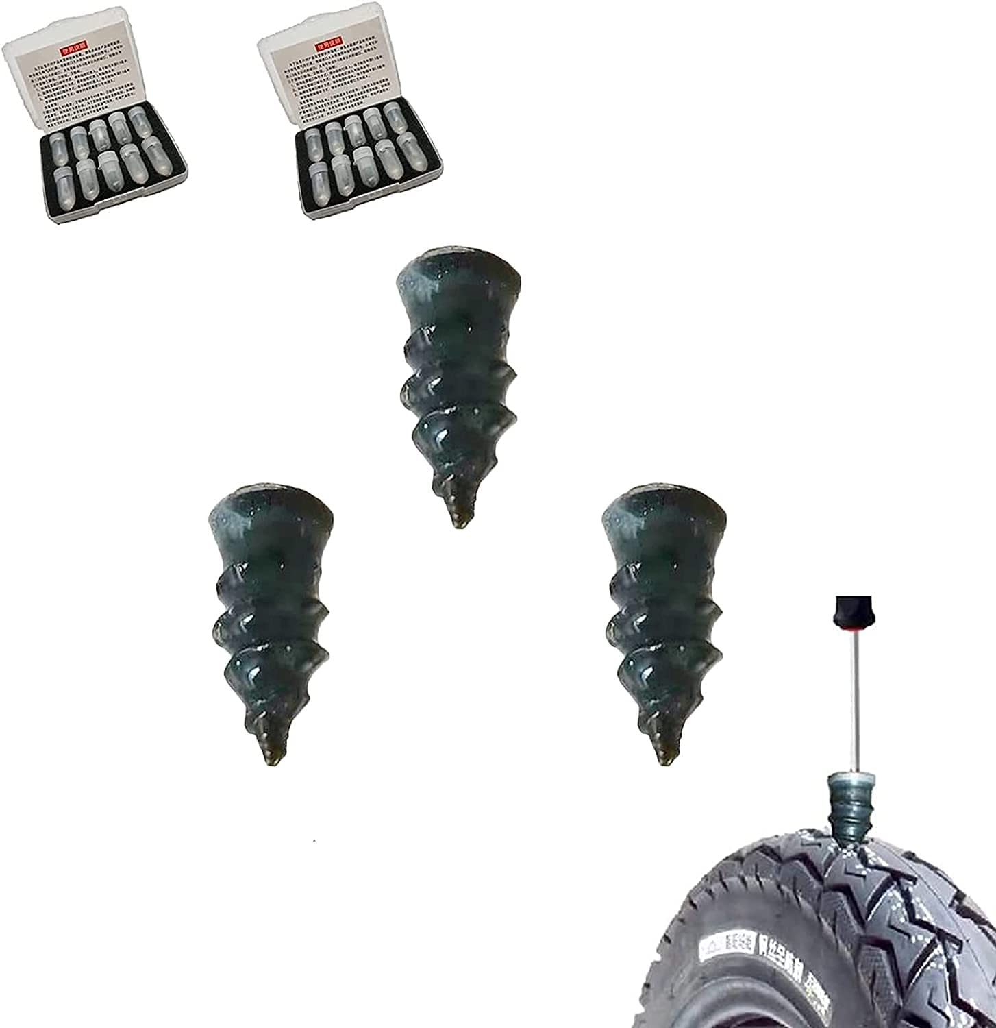 youfenghui 10 20pcs Tire Rubber Nails Safety and NEW before selling trust Spiral Repair