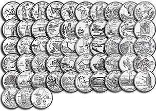 1999 P Complete 1999 thru 2009 P 56-coin B.U. State Quarter Set Uncirculated