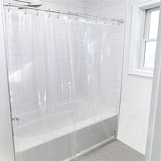 Gorilla Grip Premium Bathroom PEVA Shower Curtain Liner, 72x72 Inch, Waterproof, Mildew Resistant, BPA Free, Magnets in Li...