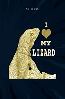 Notebook Journal I love my lizard: Planning, Daily, To Do List, Teacher, 6x9 inch, Bill, Over 100 Pages, Budget Tracker
