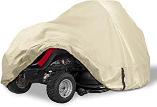 Porch Shield Heavy Duty 600D Polyester Lawn Tractor Cover, Water-Resistant Universal Riding Lawn Mower Cover (Up to 54 inc...