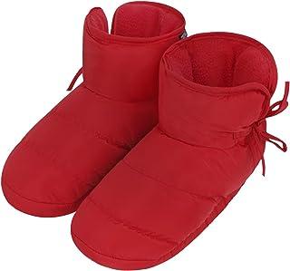 شباشب داخلية للجنسين للنساء والرجال في الشتاء دافئ دافئ مبطن أسفل الكاحل أحذية برقبة عالية رغوة الذاكرة أحذية الثلوج