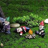 Gartenzwerg-Zwerg-Statue, Gartendeko Figuren, Betrunkene Zwerge Gartenzwerge, Lustiges Mikrolandschaftsstatuen Kit 4 Stück, Verwendet für Märchengärten Liegewiese Tisch Deko (Klein)