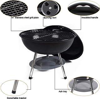 JUZEN 14 Pulgadas Mini Barbacoa portátil de carbón Estufa de Escritorio de Barbacoa de Camping, Adecuado para el hogar Camping Trip Beach BBQ