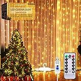 Tenda Luminosa, Catena Luminosa, Mroobest Tenda luminosa Luci Cascata per Finestra, 3M x 3M 300LEDs USB 8 Modalità e Resistenza all'acqua - Per Esterni, Interni, Natale, Camera da Letto, Giardino