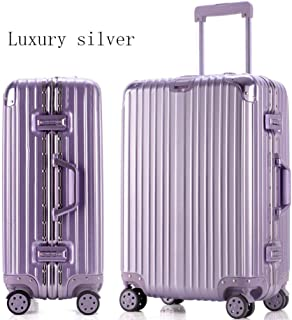 Flower Pot Rack Trolley Case Aluminum And Aluminum Frame Trolley Case Luggage 24 Inch Luggage Boarding 20 Inch Student Password Box trunk (Color : Big red, Size : 22 inches),Size:26 inches,Colour:Purp